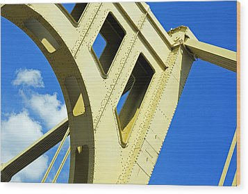 Look Up Pittsburgh Pa Wood Print by Kristen Vota