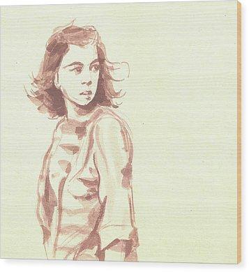 Looking Back... Wood Print by Sharmila L