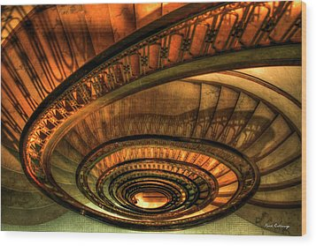 Looking Down The Ponce Stairs Opened In 1913 Wood Print by Reid Callaway