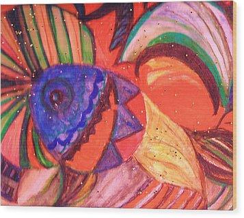 Looking For A Rainbow Wood Print by Anne-Elizabeth Whiteway