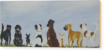 Looking For Our Forever Home Wood Print