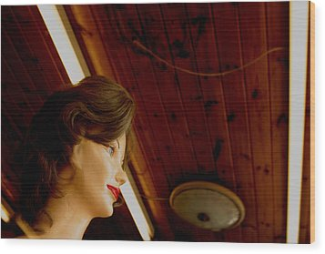 Looking Out As The Day Goes By Without Me Wood Print by Jez C Self