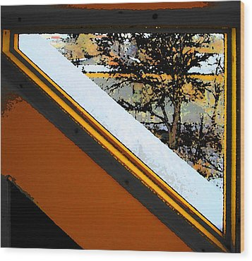 Looking Out My Brothers Window Wood Print by Lenore Senior