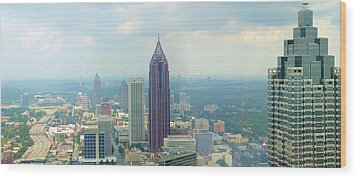 Wood Print featuring the photograph Looking Out Over Atlanta by Mike McGlothlen
