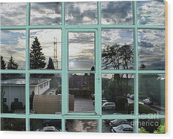 Wood Print featuring the photograph Looking Out The Window by Bill Thomson