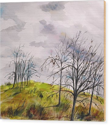 Wood Print featuring the painting Looking Past To The Changing Sky by John Williams