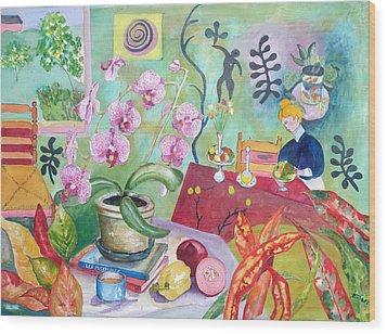 Looking Through Matisse's Window Wood Print by Elizabeth Ferris