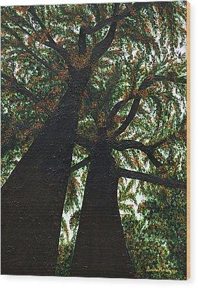 Looking Up Wood Print