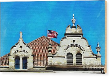 Wood Print featuring the photograph Looking Up - Scranton Proud by Janine Riley