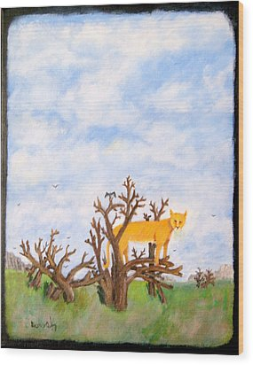 Lookout Wood Print