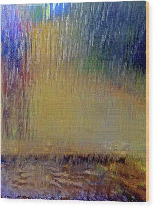Looks Like Rain Wood Print