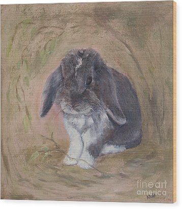 Lop Eared Rabbit- Socks Wood Print