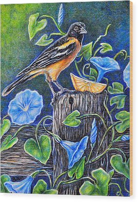 Lord Baltimore's Breakfast Wood Print by Gail Butler
