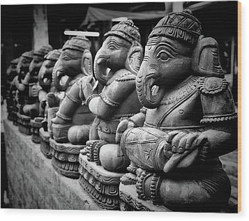 Lord Ganesha Wood Print by Abhishek Singh & illuminati visuals