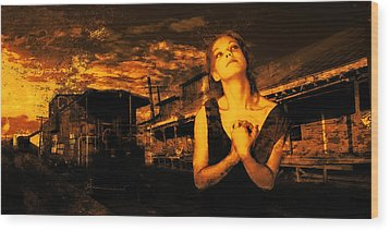 Lord Let Him Come Home From Iraq Wood Print by Jeff Burgess