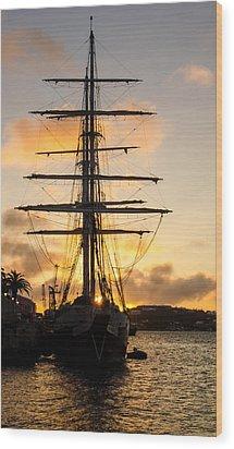 Lord Nelson Sunrise Wood Print by Jeff at JSJ Photography