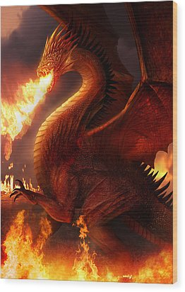 Lord Of The Dragons Wood Print by Philip Straub