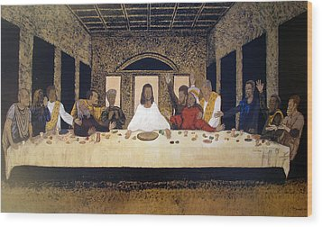 Lord Supper Wood Print