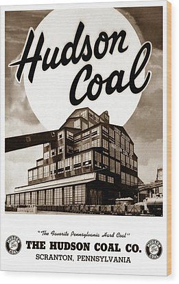 Loree Colliery Larksville Pa. Hudson Coal Co  Wood Print