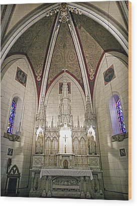 Wood Print featuring the photograph Loretto Chapel Santa Fe by Kurt Van Wagner