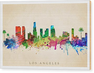 Los Angeles Cityscape Wood Print