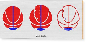 Wood Print featuring the digital art Los Angeles Clippers Logo Redesign Contest by Tamir Barkan
