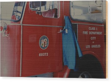 Los Angeles Fire Department Wood Print by Rob Hans