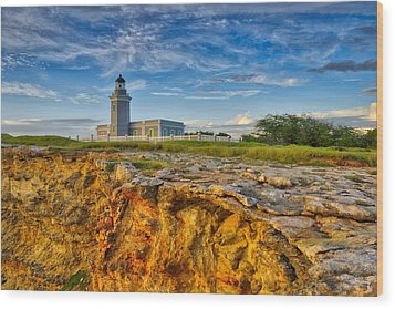 Los Morillos Lighthouse - Los Morillos - Cabo Rojo - Puerto Rico Wood Print by Photography  By Sai