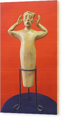 Losing More... Wood Print by Victor Amor