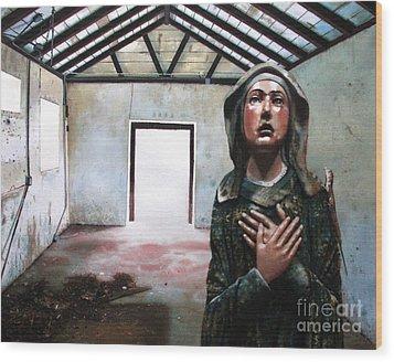 Losing My Religion Wood Print by Denny Bond