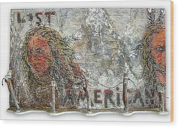 Lost Americans At Wounded Knee Wood Print by Tony A Blue
