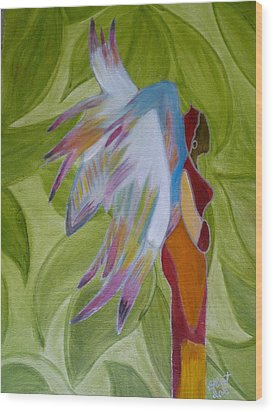 Lost Angel Wood Print by Elizabeth Ribet
