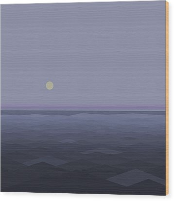 Wood Print featuring the digital art Lost At Sea - Square by Val Arie