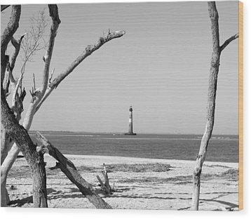 Lost At Sea...morris Island Lighthouse Wood Print by Elena Tudor
