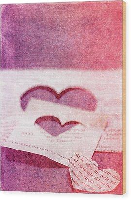 Lost Hearts Wood Print by Rebecca Cozart