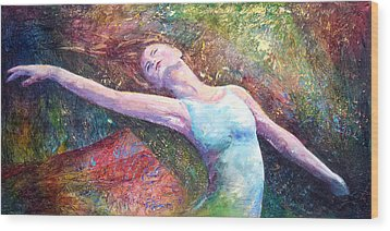 Wood Print featuring the painting Lost In Dance  by David  Maynard