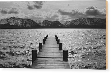 Lost In Lake Tahoe Wood Print by Brad Scott