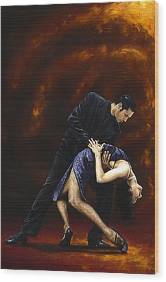 Lost In Tango Wood Print by Richard Young