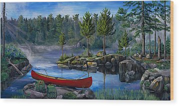 Lost In The Boundary Waters Wood Print