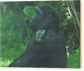 Wood Print featuring the photograph Lost In Thought by Richard Bryce and Family