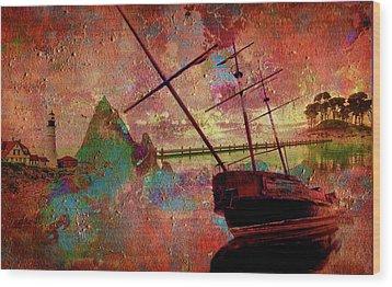 Wood Print featuring the digital art Lost Island by Greg Sharpe
