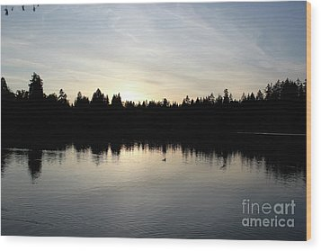 Lost Lagoon Wood Print