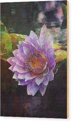 Lost Lavender Lotus Blossom 4725 Ldp_2 Wood Print