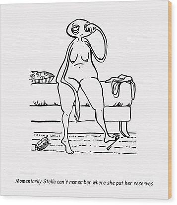 Lost Reserves Wood Print by Leanne Wilkes