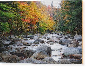Lost River Gorge At Fall  New Hampshire Wood Print by George Oze