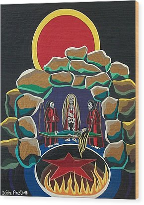 Lost Souls Outside The Spiritual Blood Of The Covenant Wood Print by Deidre Firestone