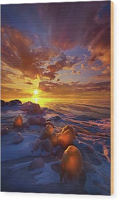 Wood Print featuring the photograph Lost Titles, Forgotten Rhymes by Phil Koch