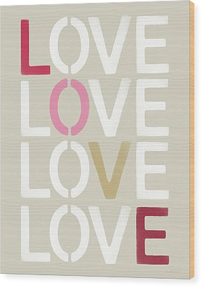 Wood Print featuring the mixed media Lots Of Love- Art By Linda Woods by Linda Woods