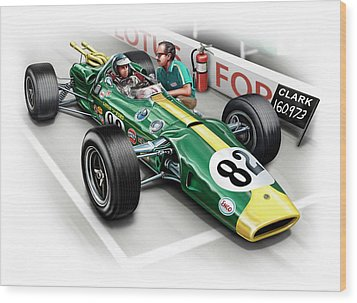 Lotus 38 Indy 500 Winner 1965 Wood Print by David Kyte
