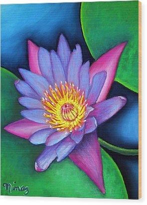 Lotus Divine Wood Print by Minaz Jantz